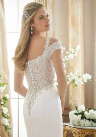 silver wedding dresses crystallized embroidery on satin wedding gown style 2880 morilee
