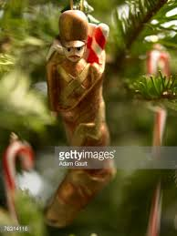Christmas Stocking Tree Decoration by Chocolate Coin Christmas Tree Decoration Closeup Stock Photo