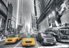 design house skyline yellow motif wallpaper wall mural non woven wallpaper new york taxi yellow cap manhattan