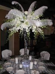 Wedding Feathers Centerpieces by Photo Via Centerpieces Center Pieces And White Feathers