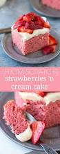 strawberries and cream cake chelsea u0027s messy apron