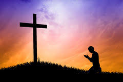 praying the cross stock illustration illustration of