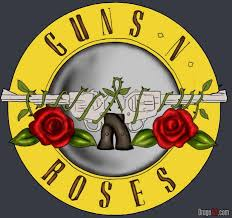 how to draw guns n roses symbol by band logos pop