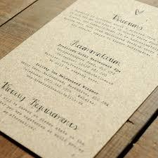 Kraft Paper Wedding Invitations Calligraphy Kraft Wedding Invitation Feel Good Wedding Invitations