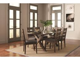 Trestle Dining Room Table by Coaster Alston Rustic Trestle Dining Table Miskelly Furniture