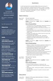 Mba Finance Experience Resume Samples by Process Associate Resume Samples Visualcv Resume Samples Database