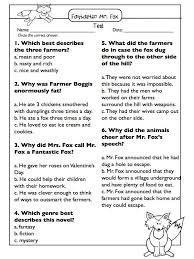 ideas of fantastic mr fox worksheets ks2 with job summary