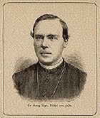 Dr. Georg Kopp, Bischof von Fulda. Wood engraving ca 1880. - portrait 9718
