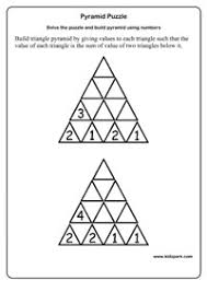 class 2 pyramid puzzle worksheets printable math sheets teachers