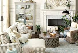 living room gray sofa brown ceiling fans console table
