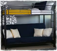 Black Futon Bunk Bed Black Metal Futon Bunk Bed Bonners Furniture