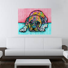 boxer dog wall art lying boxer dog wall sticker decal animal pop art by dean russo