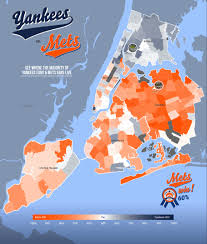 New York Boroughs Map by Map See Where Mets And Yankees Fans Live In The City Willets
