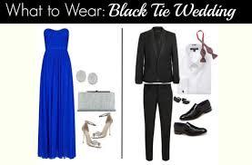 wedding attire how to black tie fadds entertainment