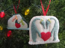 polar family felt ornament patterns penguins polar bears