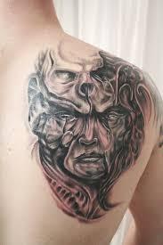 face skull biomechanic tattoo by 2face tattoo on deviantart