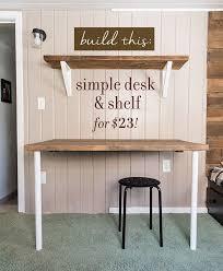 Easy Diy Desk Cheap Diy Desk Rawsolla