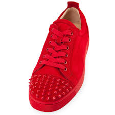 christian louboutin louis junior spikes red suede sole collector