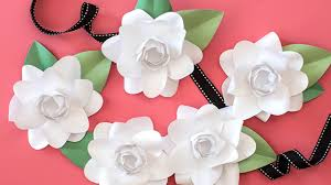 how to make a paper flower gardenia youtube