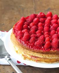 white chocolate patty cake with a raspberry crush filling