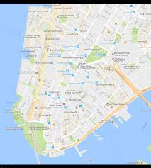 manhattan on map financial district neighborhood new york city map