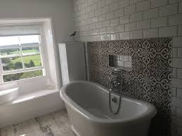 staley stonework past projects beautiful bathrooms a walk in shower with bespoke screen was installed with a rain shower head and a recess created to accommodate toiletries