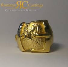dipped in gold heavy men highly polished belt buckle and dipped in 9ct gold 53