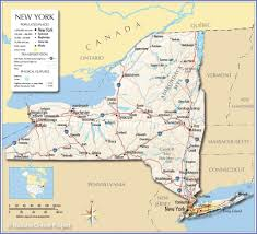 Wall Map Of New York City by Reference Map Of The State Of New York Usa U2013 Nations Online