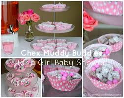 baby shower for girl chex muddy buddies recipe for a baby shower pink blue