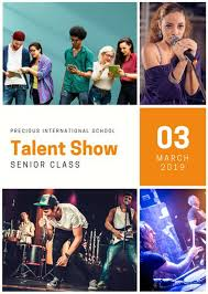 talent show flyer templates canva