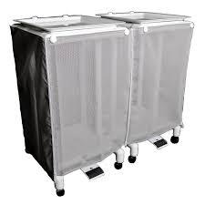 bathroom white wood double laundry hamper for exciting laundry
