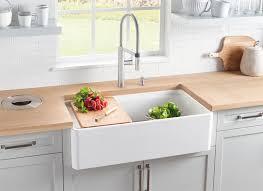 Country Style Kitchen Sinks by Blanco Profina Apron Front Single Bowl Kitchen Sink Blanco