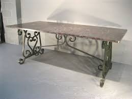 wrought iron table base for granite mortimer elm wood iron dining table p monotone usa islands for