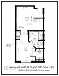 one bedroom floor plan floor plans epworth villa