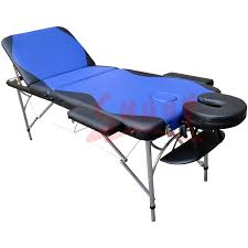 massage table with hole folding massage bed 3 section face hole spa table two tone