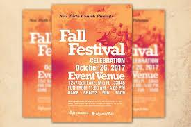 fall festival church flyer template flyer templates