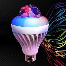 Disco Light Bulb Arilux Colorful 5w E27 Voice Control White Rgb Crystal Ball Led