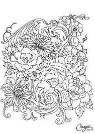 flowers coloring coloring lines