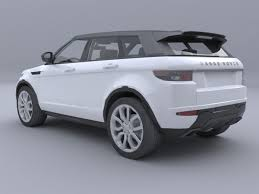 evoque land rover range rover evoque car4arch vol2 3d model cgtrader