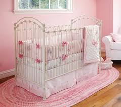 girls crib bedding nice pink bedding for pretty baby nursery from prottery barn