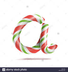 letter a vector 3d realistic candy cane alphabet symbol in