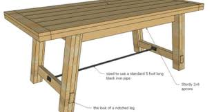Farm Table Woodworking Plans by Free Woodworking Plans To Make A Farmhouse Table Inspired By