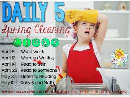 Time For Spring Cleaning by A Sunny Day In First Grade Daily 5 Spring Cleaning Word Work