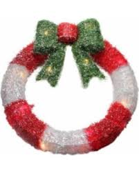 don t miss this bargain 16 lighted tinsel and white wreath