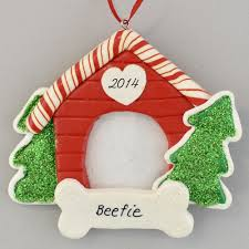 dog house photo frame personalized clay dough ornament calliope