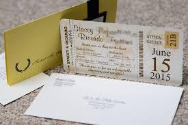 boarding pass wedding invitations brown boarding pass wedding invitations to golden coast in attica