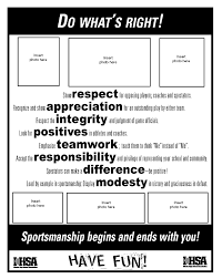do what u0027s right sportsmanship resources ihsa