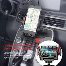 porta iphone da auto mpow porta cellulare universale da auto per cd slot con un