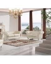Ivory Leather Loveseat Loveseat Glam White Sofas U0026 Loveseats Bhg Com Shop