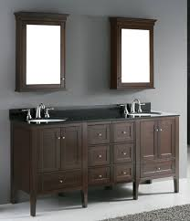 madeli torino 72 bathroom vanity walnut finish black granite top